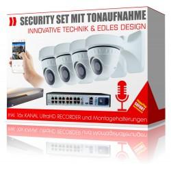 FullHD IP Videoüberwachung Komplettsystem mit Tonaufnahme