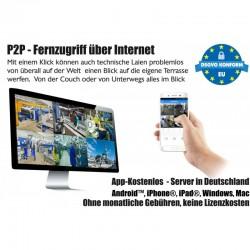 Ultra-HD IP Videoüberwachung Set Internet App 10x 4k PoE Kameras