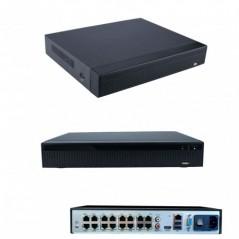 IP Kamera Rekorder 16x Kanal davon 8x mit POE H.265+ bis 8 Megapixel 4K NVR