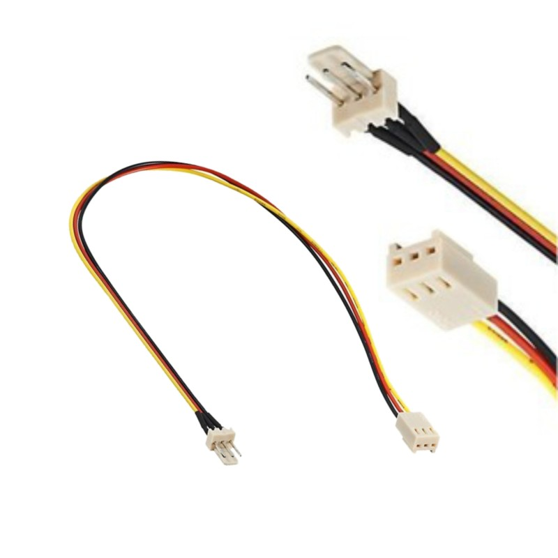 PC fan power cable extension 3 pin male / female
