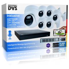 Video surveillance set outdoor 4K