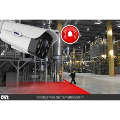Video surveillance factory operation