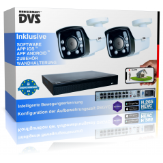 video surveillance IP PoE camera set