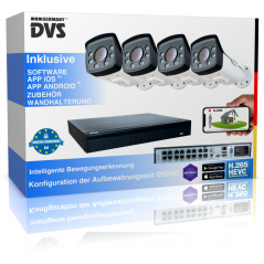 Video surveillance set 4K