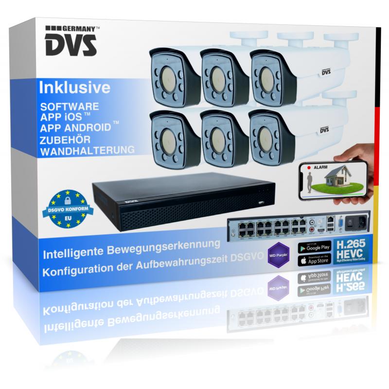 Professionelle 4K IP Kamera Set Grundstücksüberwachung