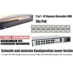 PoE 4K Recorder Kamera Set