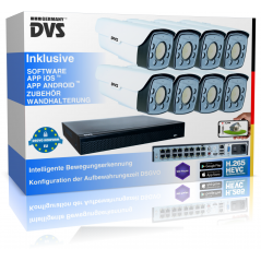 Video surveillance system 4K IP camera set