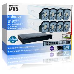 Videoüberwachungssystem 4K IP Kamera Set