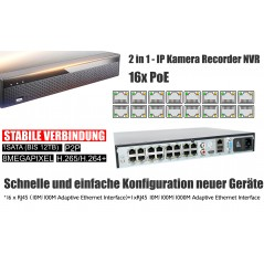 4K IP camera set complete