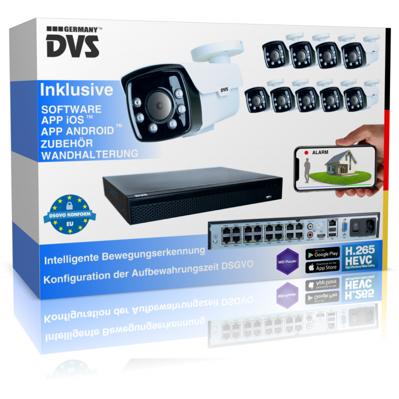 Professional video surveillance system for people detection