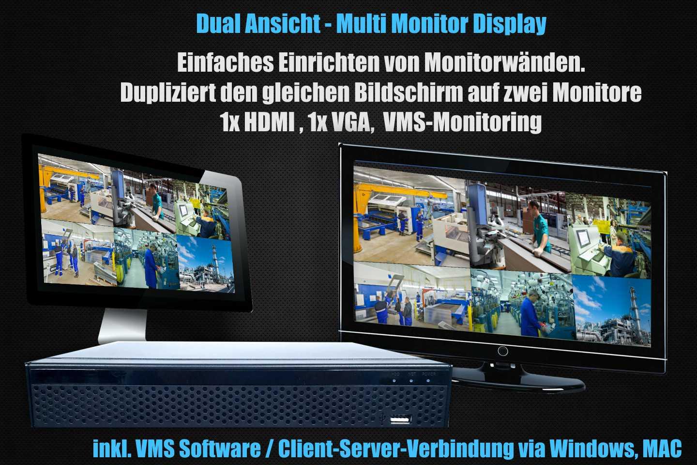 Dual Ansicht Videoüberwachung