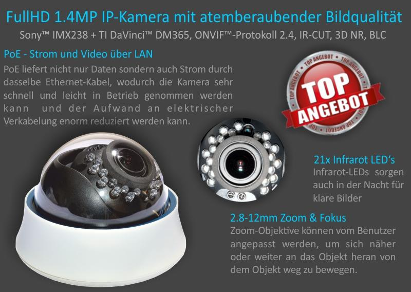 ip hd video berwachung set ip kameras und nvr inkl poe switch ebay. Black Bedroom Furniture Sets. Home Design Ideas