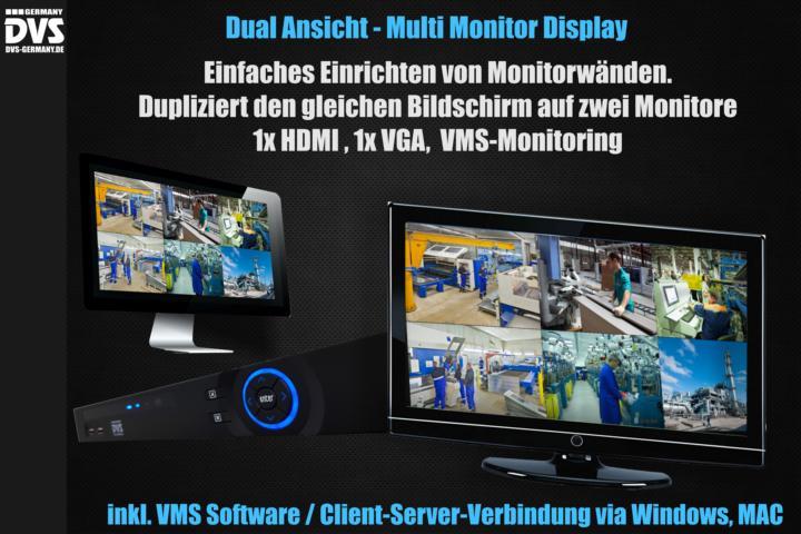 2 Monitore Videoüberwachung