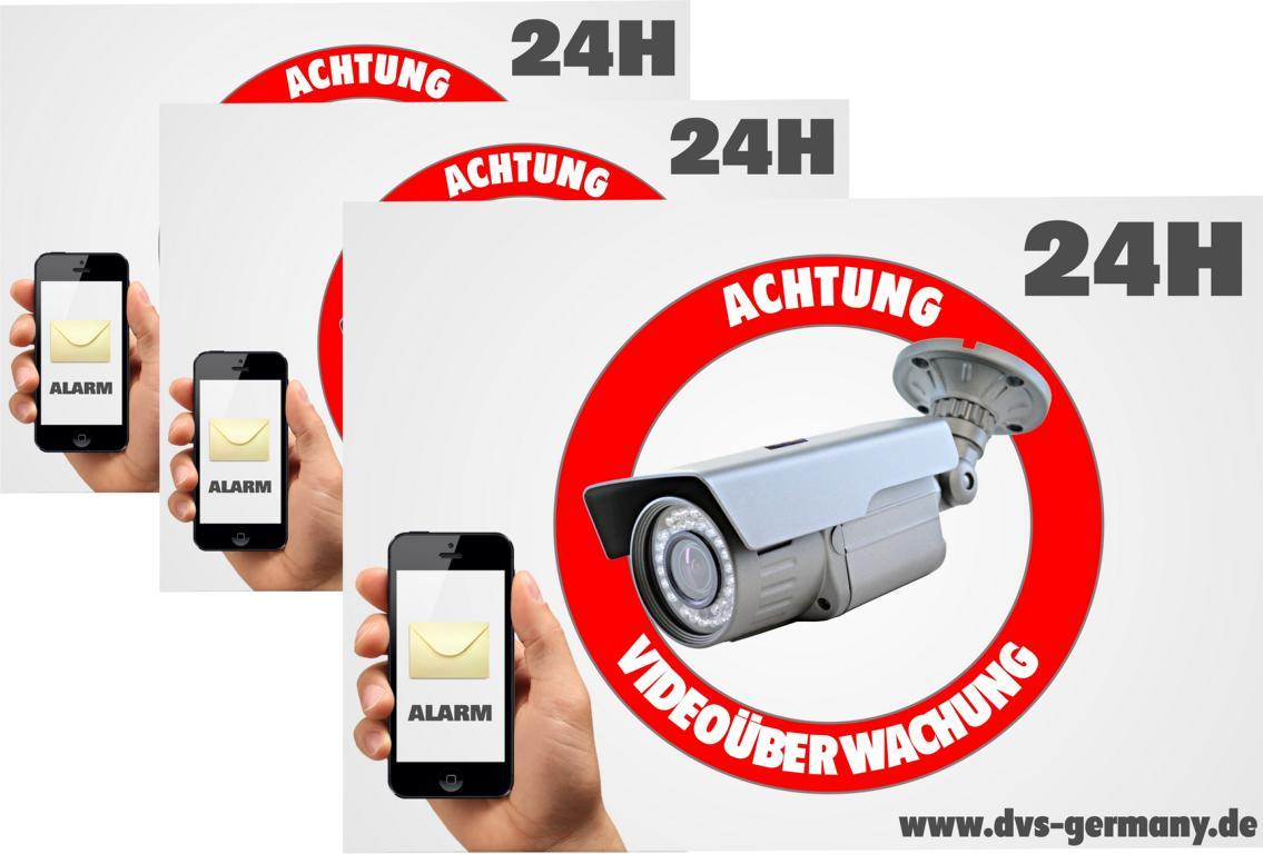 Achtung Videoüberwachung Schild