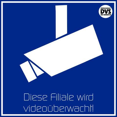 hinweisschild achtung videoüberwachung