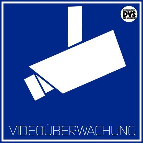 Schild-Achtung-Videoüberwachung
